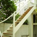 Buiten eenkwart trap