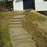 Buiten trap voor