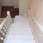 Eenkwart trap geverfd