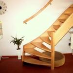 Beuken trap eenkwart open treden